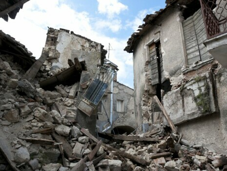 natural disaster earthquake rubble