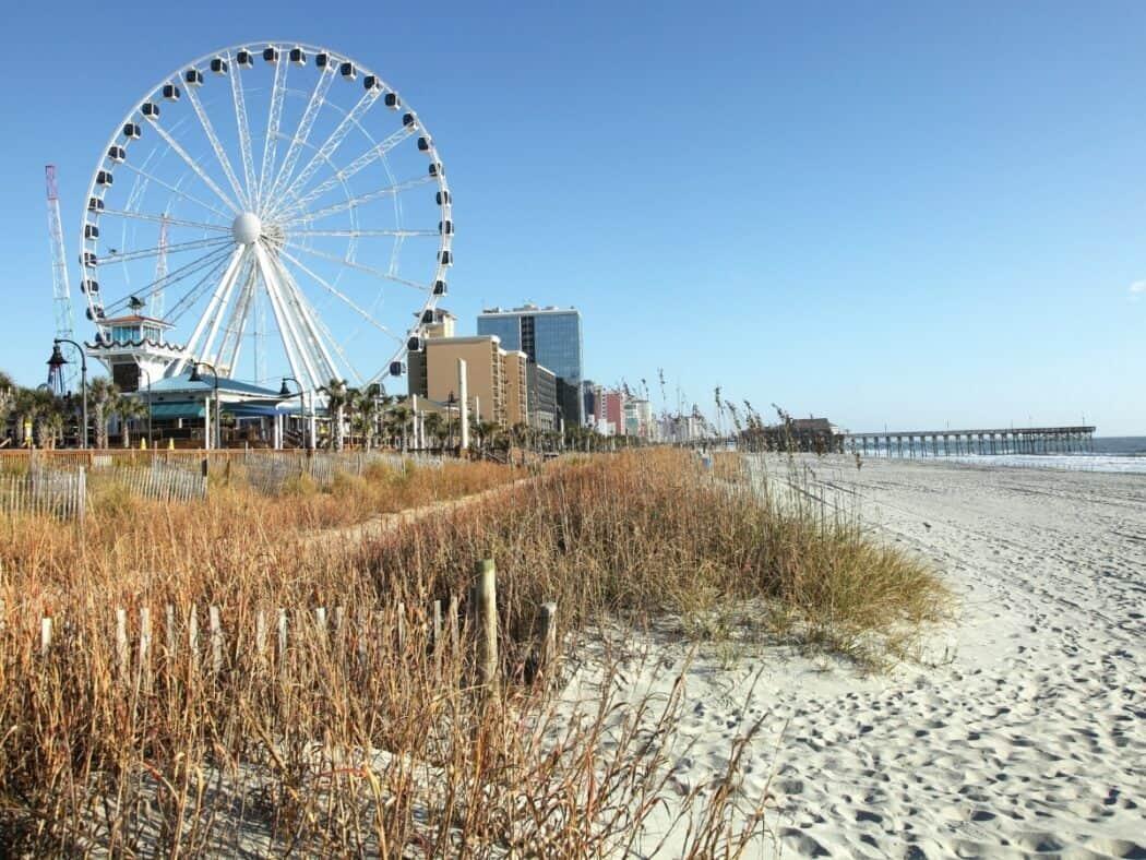 south carolina beach and ferris wheel