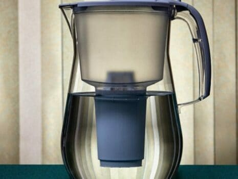brita water pitcher with blue internal filter
