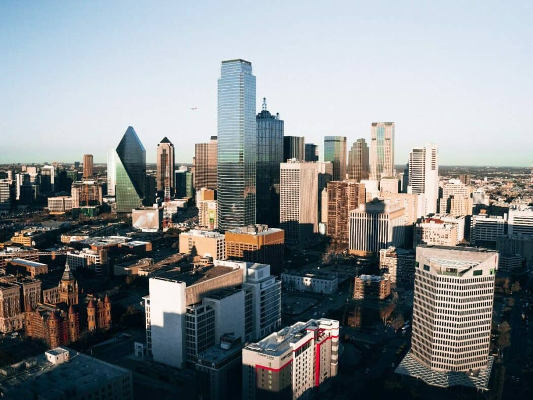 dallas, texas skyline from reunion tower during daylight