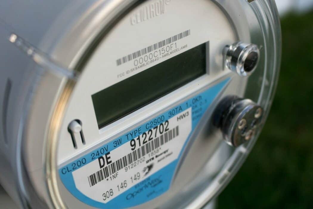 Close up of an electrical meter.