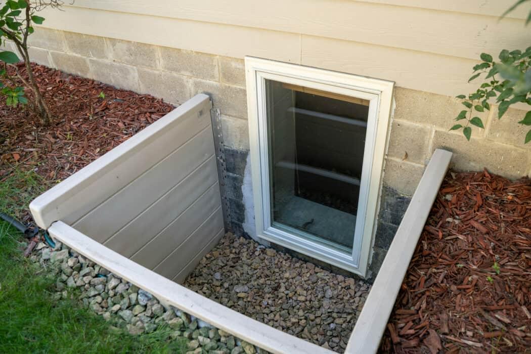 exterior view of low window