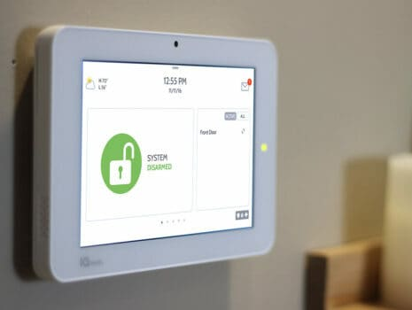 white security system green unlocked