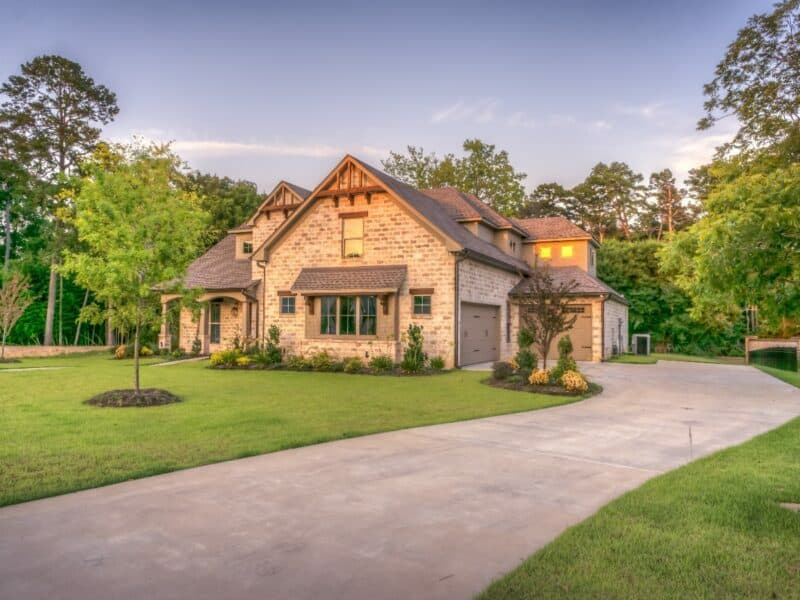 house with a long driveway