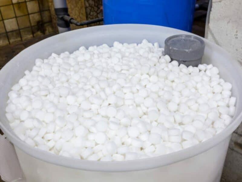 barrel of salt blocks for the softener
