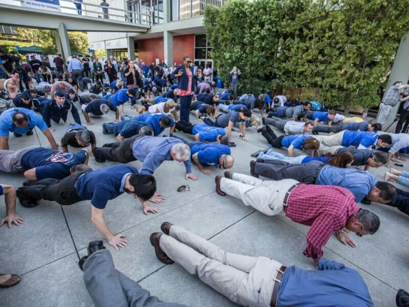 push up challenge for 22 kill, a dallas small business focused on saving veterans from suicide